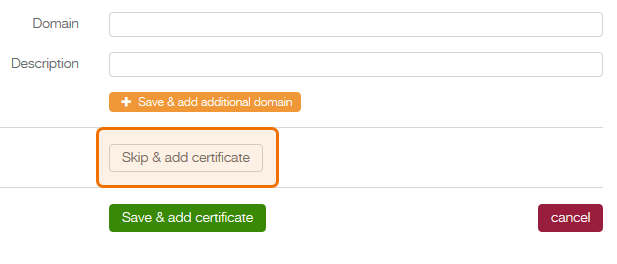 add domain form - skip btn