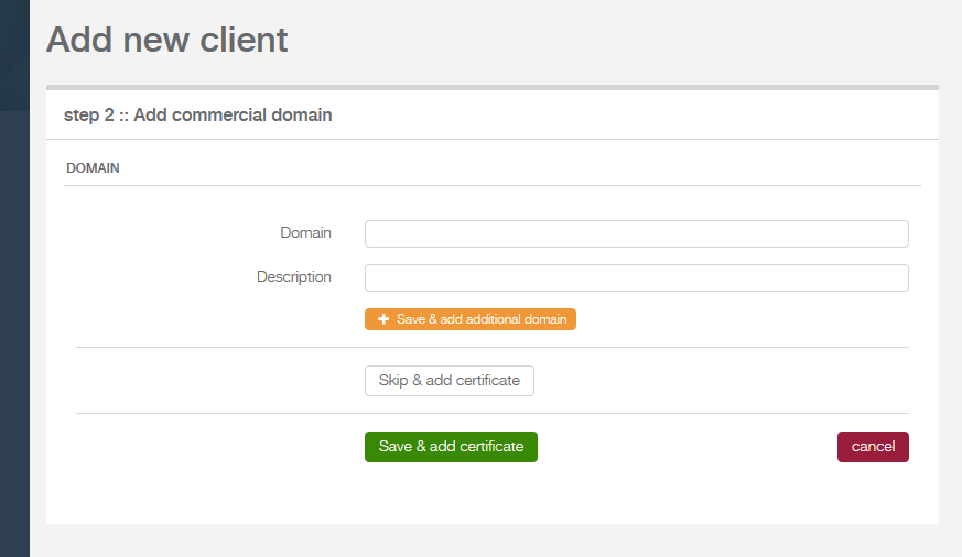 add domain form